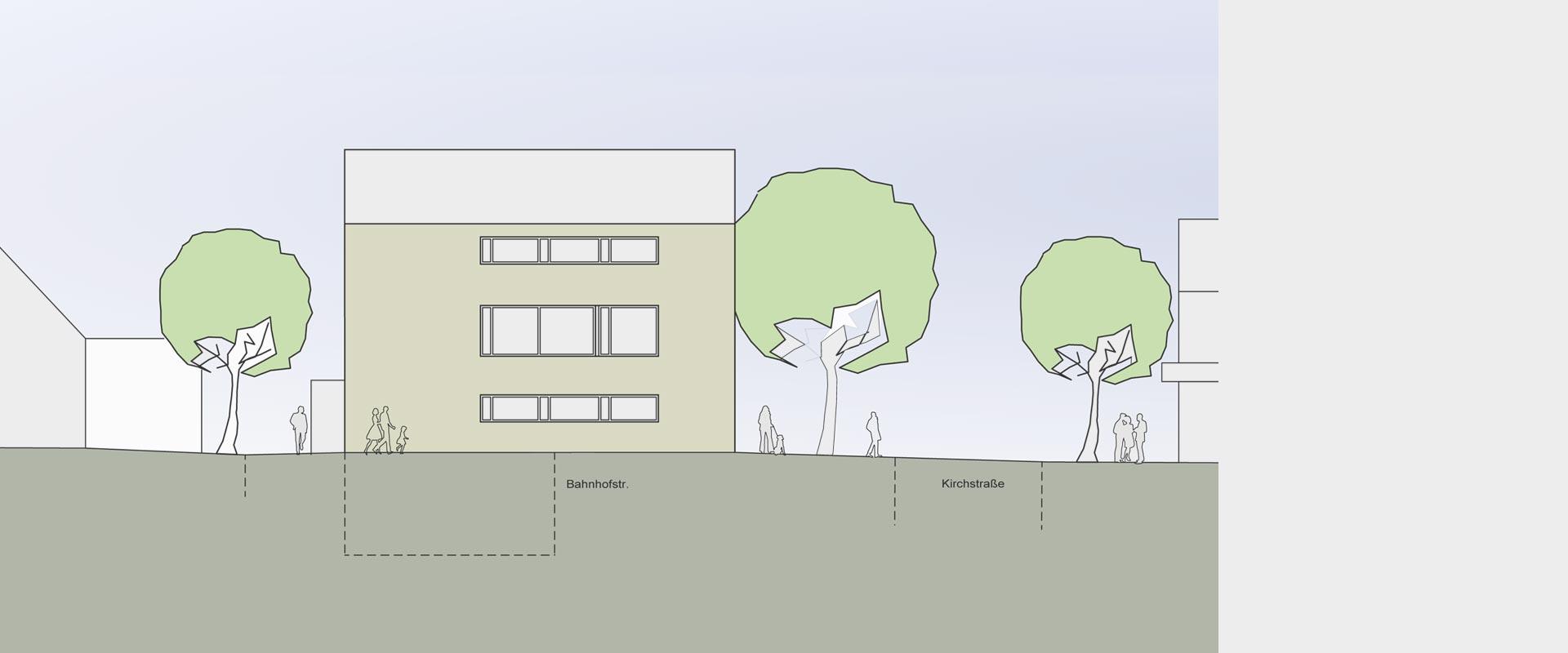 Architekturbüro musahl Waldshut Rathaus Dogern Ansicht Norden