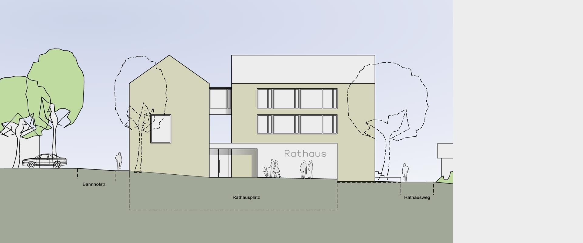 Architekturbüro musahl Waldshut Rathaus Dogern Ansicht Westen