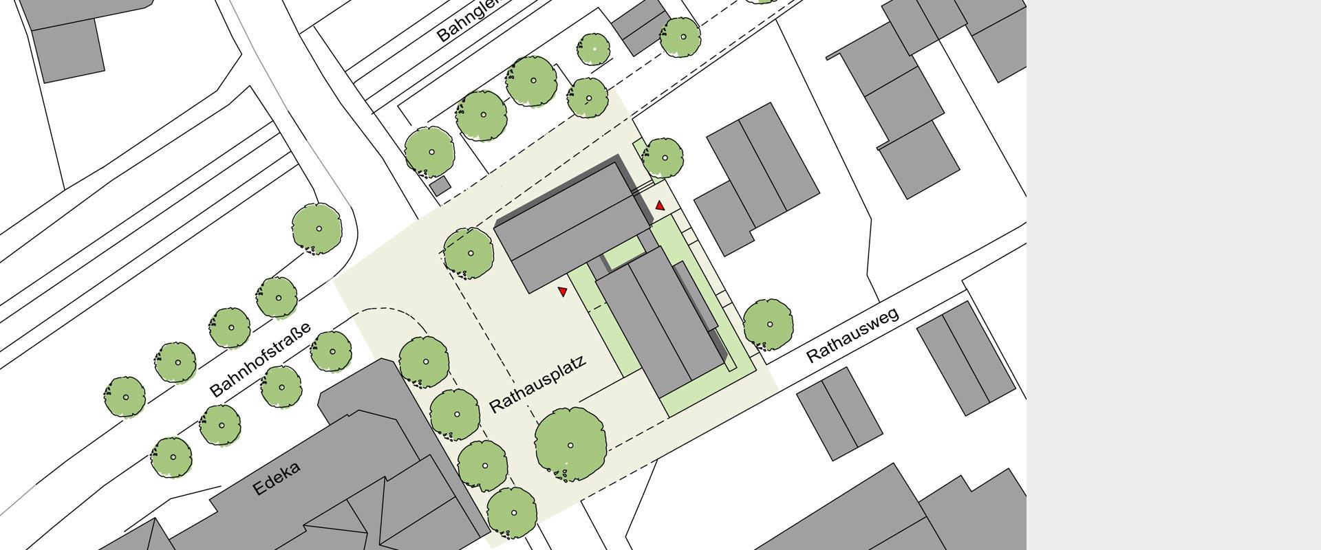 Architekturbüro Musahl Rathaus Dogern Lageplan