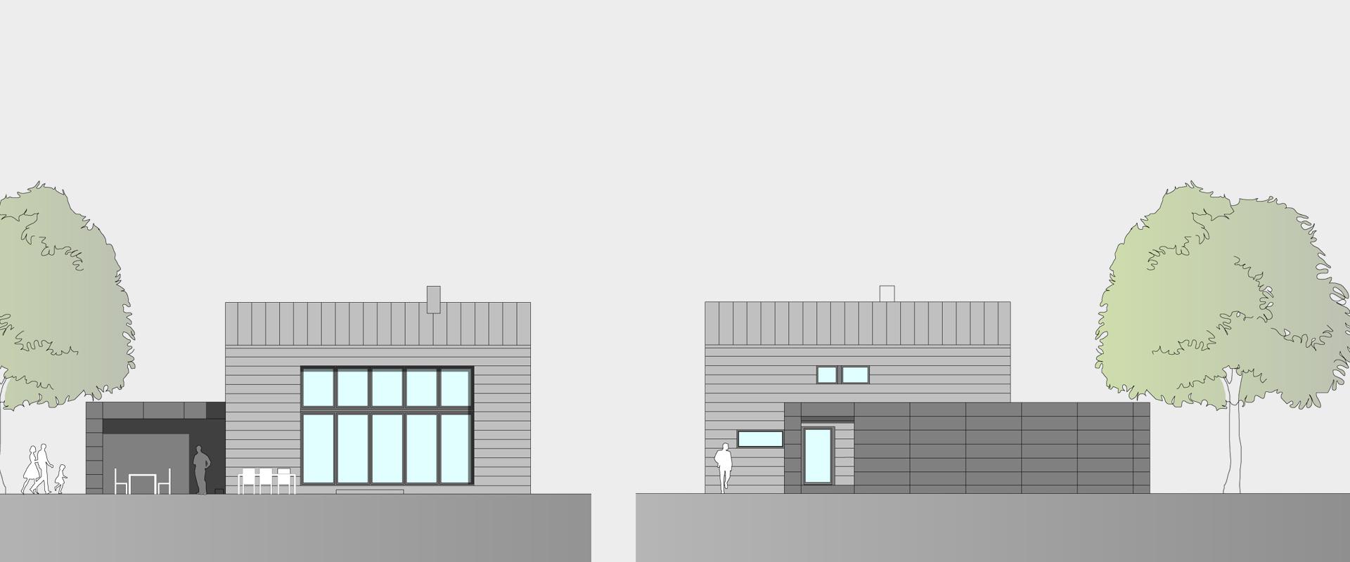 Architekturbüro musahl Waldshut Wohnhaus S. in Oberweschnegg Süd, Nord